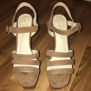 Nasty Gal Wedged sandals Size 8